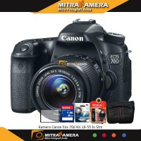 Canon EOS 70D Kit 18-55 IS STM (Built-In Wifi) ( PAKET )