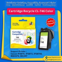 Cartridge Recycle Canon CL-746 Color, Printer MG2470 MG2570 IP2870