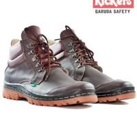 Sepatu Kickers Boots Garuda Kulit Brown