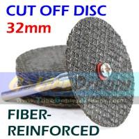 Jual 32mm Fiber Reinforced Cut Off Disc Mata Potong Besi Stainless Cutting Murah