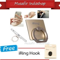 Iring Stand Polos With Free Hook Untuk Android Dan Apple / Ios
