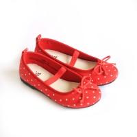 Kei Sepatu Anak Perempuan Red Polkadot Ballerinas