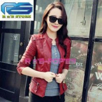 Jual jaket wanita semi kulit/jaket casual/style baru/korea/motor Murah
