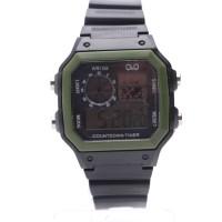jam tangan digital q&q wr10m countdown timer sport watch
