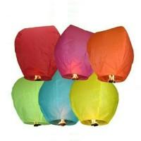 Jual lampion terbang fly sky lantern fire balon cocok untuk acara outbound Murah