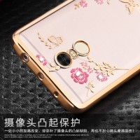 Jual Casing Silicon Flower Bling Diamond Cover Xiaomi Redmi Note 4 SoftCase Murah