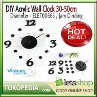 DIY Acrylic Wall Clock 30-50cm Diameter - ELET00665   Jam Dinding 96c7532194