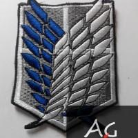 logo badge shingeki no kyojin, attack on titan