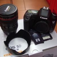 Camera Canon DSLR Eos 5D + mark III Lensa 18-155mm New