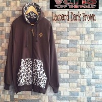 jaket murah vans leopard brown