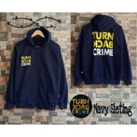 Sweater Jaket Murah Trun Back Navy