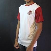 Baju Kaos Lengan Pendek Putih Merah Oneninesix