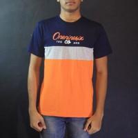 Baju Kaos Lengan Pendek Orange Biru Navy Oneninesix