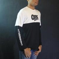 Baju Kaos Lengan Panjang Hitam Putih Oneninesix