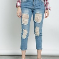 CELANA JEANS WANITA SHOP HER AT CAMEO RIPPED JEANS