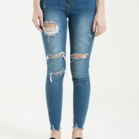 CELANA JEANS WANITA SHOP HER AT ALL RIPPED JEANS