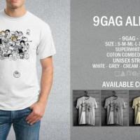 T-Shirt (Kaos) 9GAG All In One Meme Comic 06