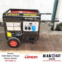 5000 Watt Mesin Genset Loncin,Dual Starter - Murah (Rakogu WP7500E-LC)