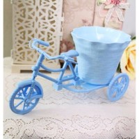 Rattan Bike bicycle cycle / sepeda vas bunga shabby chic B1-3