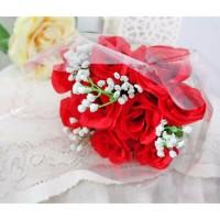 bunga plastik hias artificial handbouquet hand bouquet bouq B1-2