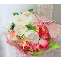 bunga plastik hias artificial handbouquet hand bouquet bouq A1-1