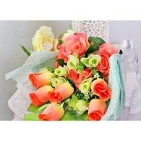 bunga plastik hias artificial handbouquet hand bouquet bouq A1-2