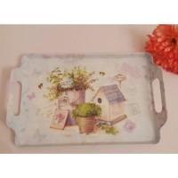 nampan melamine shabby chic vintage / tray