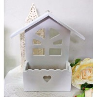 pajangan vas bunga artificial plastik hias pagar rumah shabby chic A