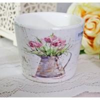 vas pot bunga arttificial plastik hias keramik shabby chic vintage A