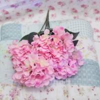 bunga artificial hydrangea bunga buket bouquet PINK shabby chic