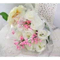 bunga plastik hias artificial handbouquet hand bouquet bouq B1-1