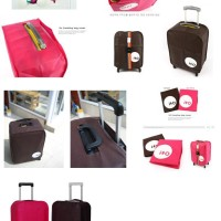 [ Free Kombinasi Belt ] Luggage Cover sarung koper set an dgn Belt