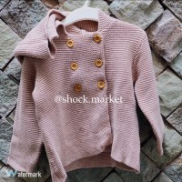 H&M Kids / girl brown Sweater with Capucchon (sweater anak)