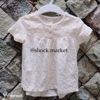 H&M baby white blouse (baju anak bayi perempuan)