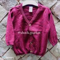 H&M kids / baby maroon cardigan (pakaian bayi / pakaian anak)