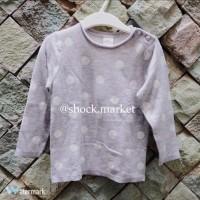 H&M kids / girl grey polkadot sweater (sweater anak perempuan)