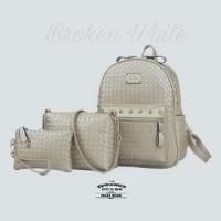 Backpack Fashion Wanita Korea Tikar Tristan Premium