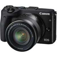 New Kamera Mirrorless Canon EOS M3 Black Hitam Lensa Kit 18-55 IS STM