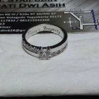 cincin kawin nikah tunangan perak lapis emas putih single