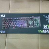 NYK K02 / K-02 Keyboard Gaming Fullsize + LED