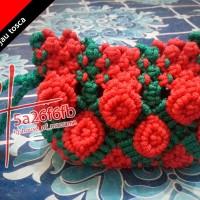 dompet tali kur motif bunga timbul harga 45ribuan