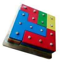 Jual Mainan Edukatif / Edukasi Anak - Tetris 4 Susun Family Game Logika Murah