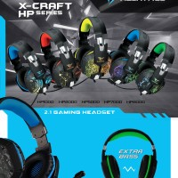 Sonicgear Gaming Headset Xcraft Hp 2000 / 5000 / 7000 / 8000