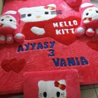 Jual Karpet Motif Hello Kitty Full Set Murah