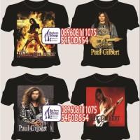 harga Kaos Paul Gilbert Gitaris Mr. Big Ibanez Clinic Guitarist Rock Gitar Tokopedia.com