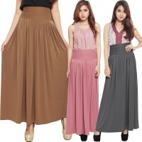 Jual Pleated Flare Maxi Skirt Murah