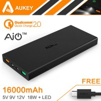 Aukey Portable Charger Power Bank 2 Port 2.4A 16000mAh