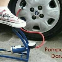 Jual Pompa angin injak darurat ban mobil motor sepeda bola Foot pump Murah