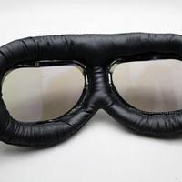 TERLARIS Kacamata Goggle Carting Aviator Aksesoris Motor Vespa, Scoote
