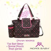 Moms Baby Tas Bayi Besar Posh Moms + Bottle Holder MBT710300 Baru